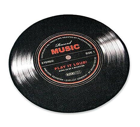 Felpudo mediano en forma de LP/Vinilo
