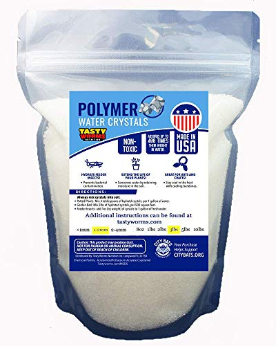 3LBS Medium Water absorbing crystal,polymer, soil moist, Insect Water (Crystal Soil Beads)