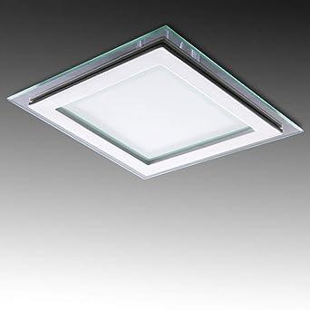 Greenice | Foco Downlight LED Cuadrado LED con Cristal 200X200Mm 18W 1500Lm 30.000H | Blanco