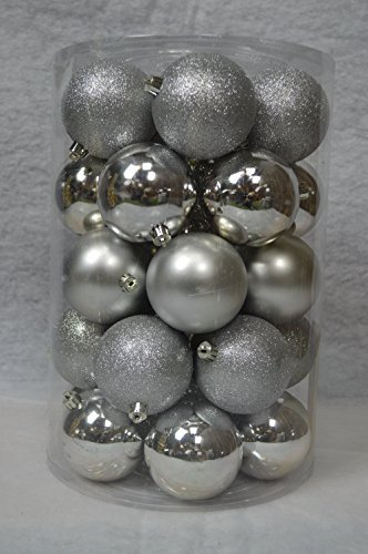 new style 47503 63b5d Amazon.com: Decoris 34 Luxury Shatterproof Christmas Baubles ...