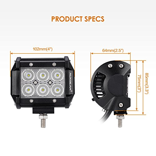 Auxbeam-4-Pcs-4-LED-Light-Bar-18W-LED-Pods-6pcs-3W-CREE-LEDs-Spot-Beam-Driving-Light-Waterproof-LED-Bar