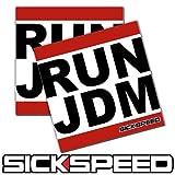2Pc Run Jdm Dmc Spoof Parody Vinyl Sticker Decal Stickerbomb Bomb Funny Spoof for BMW 535i