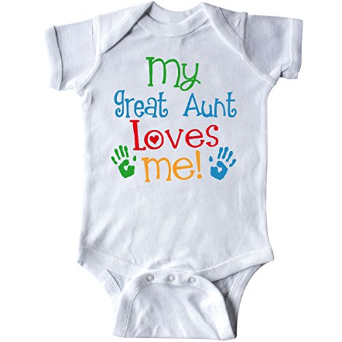 inktastic - My Great Aunt Loves Me Gift Infant Creeper 6 Months White 2fc0a