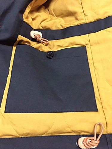 mod mod IN IN IN giaccone 7008 uomo nero senape CECCARELLI MADE interno MANIFATTURA ITALY BYz6g