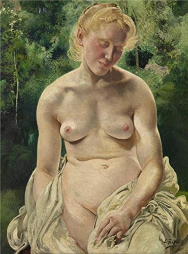 Oil Painting 'Leon Frederic - Nude', 16 x 22 inch / 41 x 55 cm , on High Definition HD canvas prints is for Gifts And Bath Room, Home Theater And Living Room Decoration, where can i get (Instant Lace Front Wig)