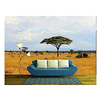 African Savanna Landscape in Kenya Wall Decor, Crafted to Perfection, Handsome Work of Art