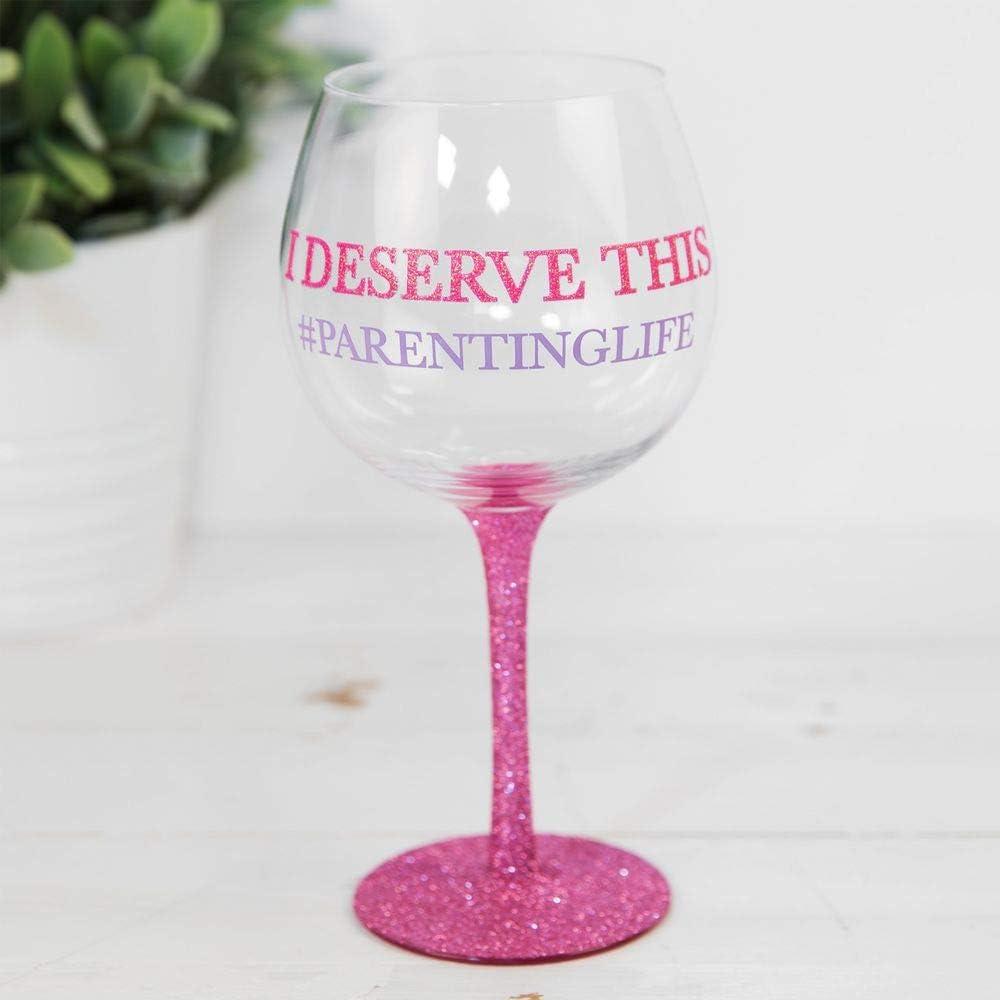 Globo de cristal con purpurina para el Día de la Madre, regalo de cumpleaños, diseño con texto en inglés