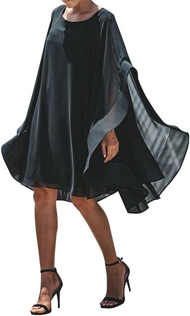 Strir Vestido Tallas Grandes Mujer Verano Elegante Asimetricos Vestidos Para Fiesta Coctel Playa Boho Chic Tunicas Largas Caftan Casual Oversize Camiseta Blusa Top Gasa Maxi Dress Amazon Es Ropa Y Accesorios