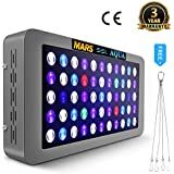 MARSHYDRO MarsAqua Dimmable 165W LED Aquarium Light Lighting Full Spectrum For Fish Freshwater and Saltwater Coral Tank Blue and White LPS/SPS
