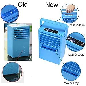 Madoats Mini Portable Air Conditioner Fan, 9.5-inch Small Desktop Fan Quiet Personal Table Fan Mini Evaporative Air Circulator Cooler Humidifier (Upgraded Version)