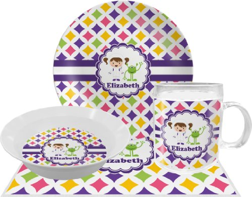 Girls Astronaut Dinner Set - 4 Pc (Personalized)