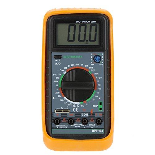 - MY-64 Handheld DMM Digital Multimeter Temperature Meter w/ Frequency Capacitance & hFE Test Ammeter Multitester Multimetro
