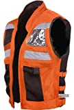 VT MOTORCYCLE ORANGE REFLECTIVE VISIBILITY BASE VEST S