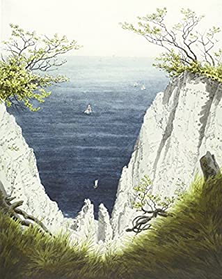 The Chalk Cliffs on Rugen by Caspar David Friedrich. 100% Hand Painted. Oil On Canvas. Reproduction. (Unframed and Unstretched).