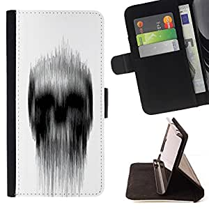 For Sony Xperia Z5 Compact Z5 Mini (Not for Normal Z5) Case , Significado Blanco Negro Lluvia Deep Dark- la tarjeta de Crédito Slots PU Funda de cuero Monedero caso cubierta de piel