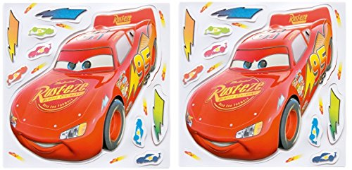 Disney Pixar Cars Glow in the Dark Wall Stickers with Lightning McQueen ()