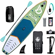 DAMA Inflatable Stand Up Paddle Boards, Inflatable Yoga Board, 5L Dry Bags, Camera Seat, Travel Bag, Floating