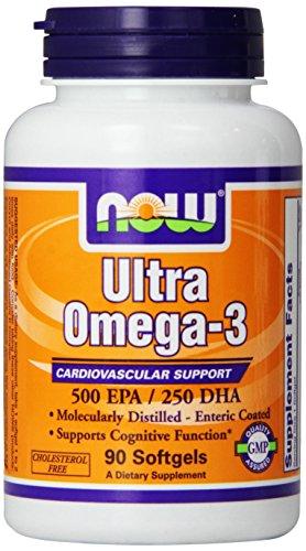 NOW Foods Ultra Omega 3 huile de poisson, 90 gélules