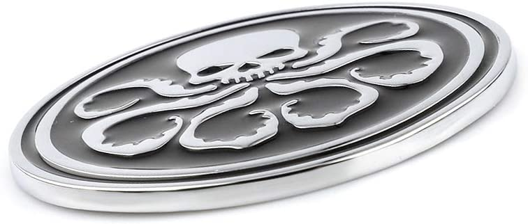 Black Metal Marvel Octopus Hydra Car Styling Emblem Badge Fits For Chevrolet Camaro Mustang Fender Trunk Nameplate Decorative