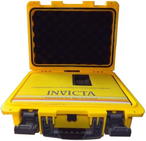 Invicta DC8YEL/GRAF Eight-Slot Dive Yellow & Grey Watch Collector Box