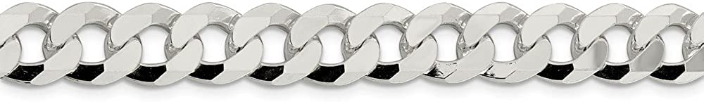 925 Sterling Silver Beveled Curb Chain Ankle Bracelet
