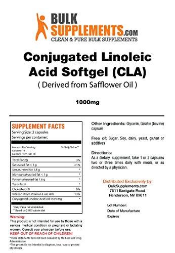 BulkSupplements.com Conjugated Linoleic Acid (CLA) 1000 mg – Weight Loss Pills – Stomach Fat Burner (300 Softgels – 150…