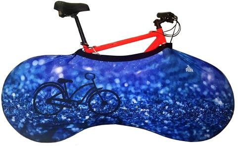 YISAMA Bicycle Indoor Storage Cover,Bike Cover To Keep Clean Car Inside,Wall and Floor at Home,Decorative Blue Motive For Sale