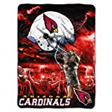 NFL Arizona Cardinals 60-Inch-by-80-Inch Plush Rachel Blanket, Sky Helmet Design