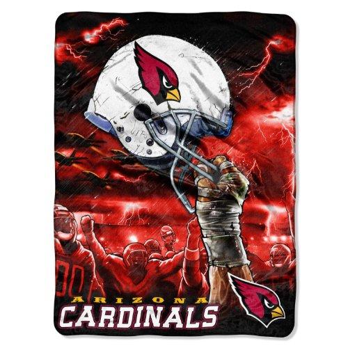NFL Arizona Cardinals 60-Inch-by-80-Inch Plush Rachel Blanket, Sky Helmet Design Arizona Cardinals Soft Blanket