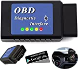 OBD2 Bluetooth Adapter Foseal OBD II Scanner Car Engine Diagnostic Scan Tool Error Code Reader for Android Devices