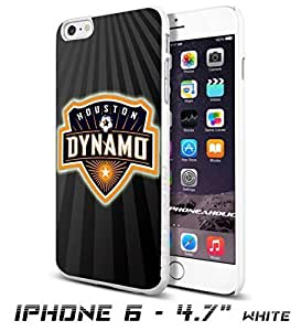 Soccer MLS Houston Dynamo LOGO SOCCER FOOTBALLCool iPhone 6 plus Inch Smartphone Case Cover Collector iphone TPU Rubber Case White [By PhoneAholic]