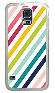 Samsung S5 protective covers Chevron Stripe Colors PC Transparent Custom Samsung Galaxy S5 Case Cover