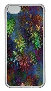 Abstract Corals Personalized Custom Hardshell Back Case for iphone 5C Transparent -1126062