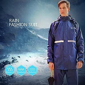 WarmClothing Traje para Moto de PVC, Chaqueta + Pantalón de ...