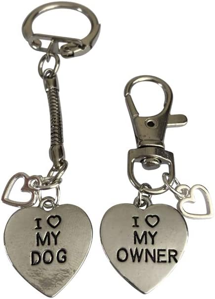 Brite Sparkz I Love My Dog Owner Friendship Set Keyring And Collar Charm Tag