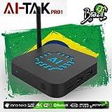2019 B Box AI-TAK PRO 4K Ultra HD grátis para Sempre Edition TEM mais de 300 canais de TV, 100 canais adultos 30mil filmes 20mil série UHD e Bluetooth, Android 6.0 e muitos canais de entretenimento