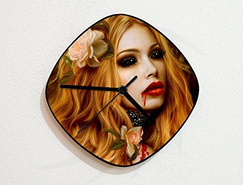 - Seductive Vampiress - Blood Thirsty - Imoortal - Bat Goffin Fangs - Custom Name Wall Clock