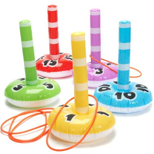Fun Express - Inflate Ring Toss Game - Toys - Inflates - Inflatable Games - 10 Pieces ()