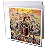 3dRose Christ and the Blessed Believers - Greeting Cards, 6 x 6 inches, set of 12 (gc_42957_2)