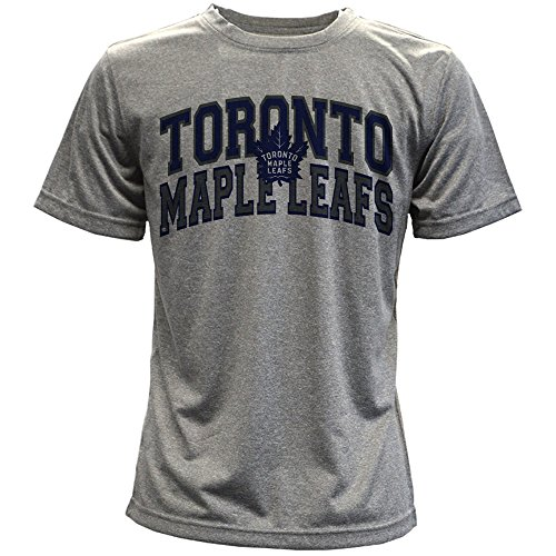 - Levelwear NHL Toronto Maple Leafs Performance Arch Youth Tee, Ym, Heather Pebble