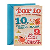 Hallmark Funny Father's Day Greeting Card (Top 10 Things I've Learned from Dad)