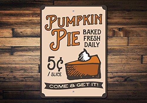 Dozili Pumpkin Pie Sign Pumpkin Pie Decor Pie Lover Gift Pie Baker Gift Pie for Sale Sign Thanksgiving Pie Sign Quality Metal 8
