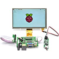 GeeekPi 7 Inch 1024x600 Touch Screen LCD Display HDMI+VGA+Driver Board for Raspberry Pi