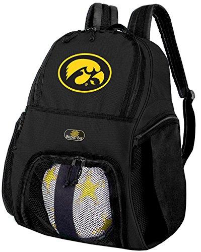 大学のアイオワ州サッカーバックパックまたはアイオワホークアイズバレーボールバッグ
