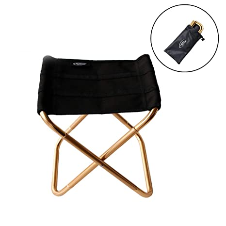 SANNIX Portable Folding Stool for Traveling//Hiking Ultralight Compact Outdoor Camp Chair Great for a Quick Rest