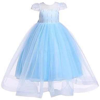 Lentejuelas Vestido De Princesa Con Encajes Tul Mangas Falda