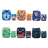 ALVABABY 6pcs Pack Pocket Washable Reusable Cloth Diaper with 2 Inserts Each (Girl Color) 6DM09