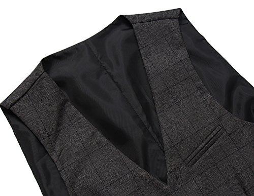 Gris Cloudstyle Costume De Gilet Sans Homme Veste Mince Manches 1qFv871Ew