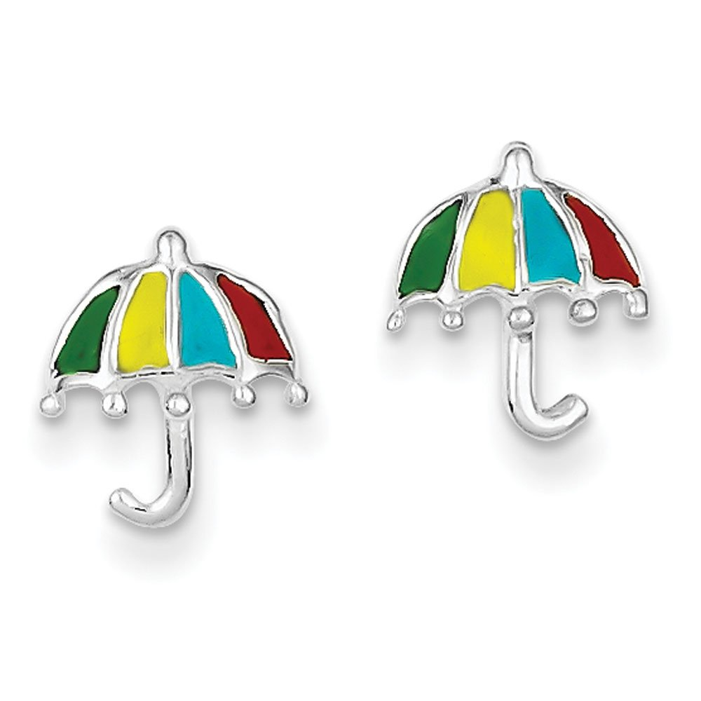 Sterling Silver Enameled Post Earrings