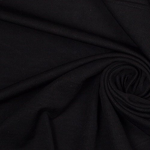 Stretch Jersey Knit Solid Fabric - Black - 10 Yard Pack